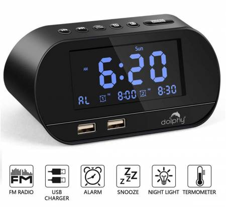 Digital dock station Dual Alarm Clock
