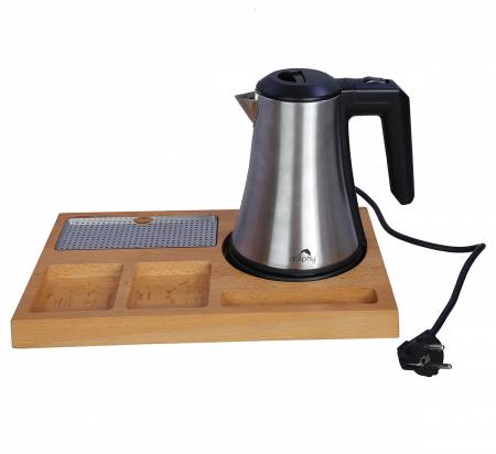 Kettle with Tray Sets(Silver)