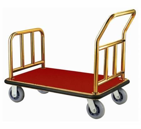 Folded Hotel Luggage Cart
